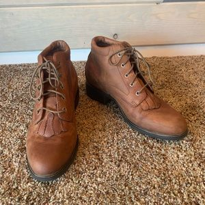 Ariat Brown Leather Lacer Boots